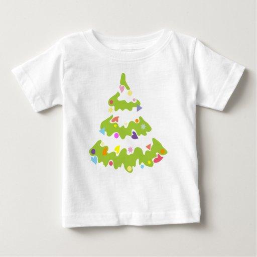 el verde adornó el árbol de navidad t-shirt