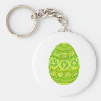 El verde adornó el huevo llavero