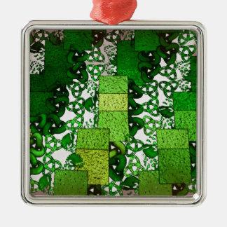 El verde ajusta el ornamento superior adorno para reyes