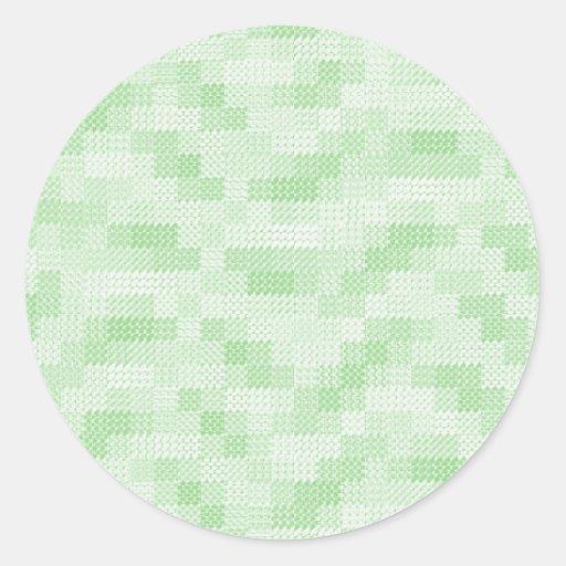 El verde ajustó al pegatina