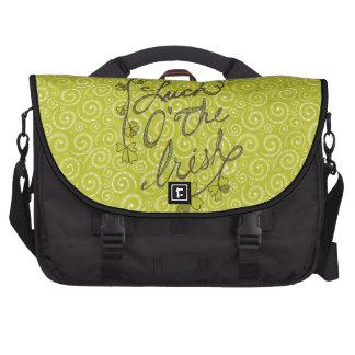 El verde amarillo remolina suerte del bolso bolsas de ordenador