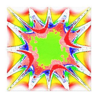 El verde amarillo rojo Splat estiró la impresión d Impresiones De Lienzo
