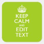 El verde androide guarda calma y su texto pegatina cuadradas