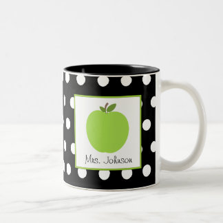 El verde Apple de la taza del profesor se