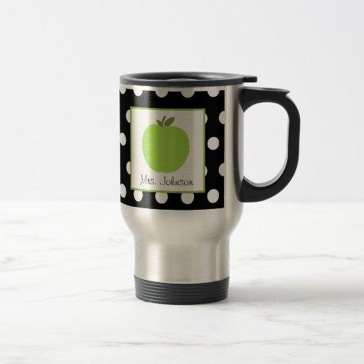 El verde Apple de la taza del profesor se ennegrec