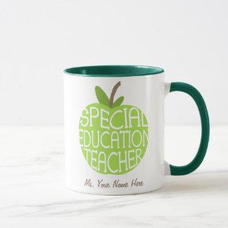 El verde Apple del profesor de la educación
