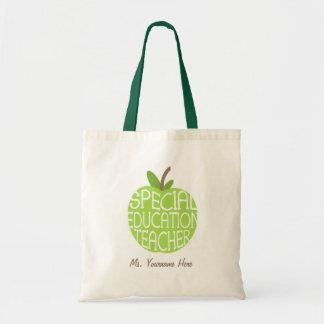 El verde Apple del profesor de la educación especi Bolsa Tela Barata