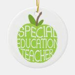 El verde Apple del profesor de la educación especi Adorno