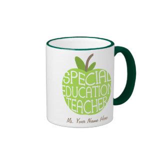 El verde Apple del profesor de la educación Taza A Dos Colores