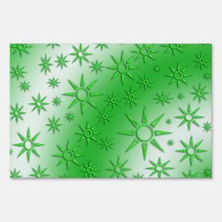 El verde asolea el modelo inconsútil cartel