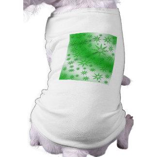 El verde asolea el modelo inconsútil camisetas de perro