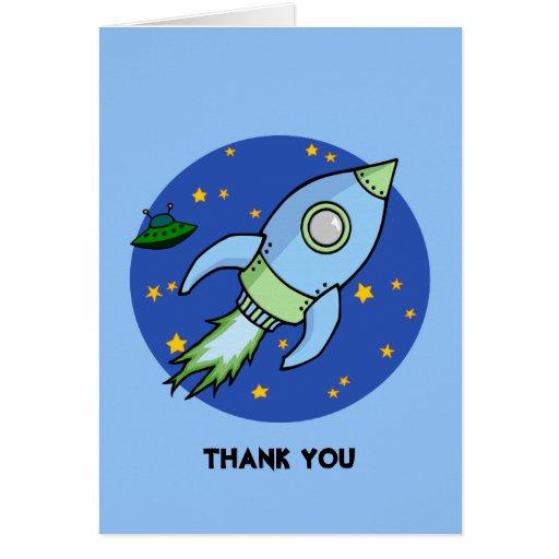El verde azul de Rocket le agradece tarjeta de not