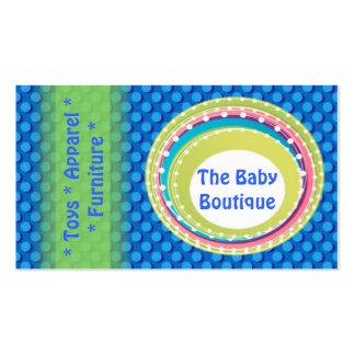 El verde azul del boutique del bebé puntea la tarj tarjetas de visita