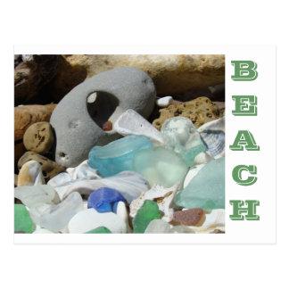El verde azul Seaglass de las postales de la PLAYA