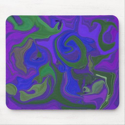 el verde azul y la púrpura colorearon el cojín de  tapete de ratón