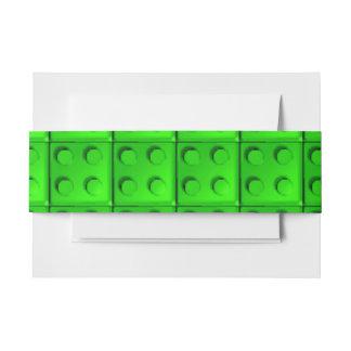 El verde bloquea el modelo decoración para invitaciones