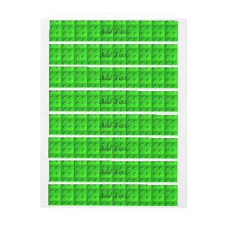 El verde bloquea el modelo etiquetas postales
