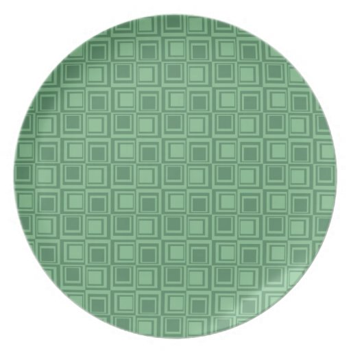 El verde bonito ajusta los regalos retros del mode platos