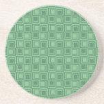 El verde bonito ajusta los regalos retros del mode posavasos diseño