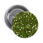 El verde brilla botón pin