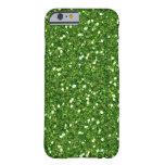 El verde brilla caso del iPhone 5