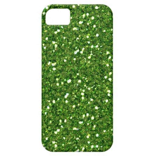 El verde brilla caso del iPhone 5 Funda Para iPhone 5 Barely There