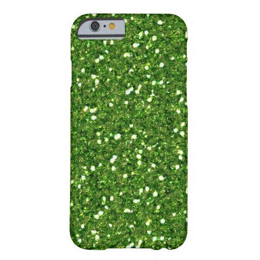 El verde brilla caso del iPhone 6 Funda De iPhone 6 Barely There