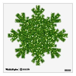 El verde brilla etiqueta de la pared vinilo adhesivo