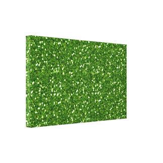 El verde brilla impresión de la lona lona envuelta para galerias