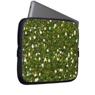 El verde brilla manga del ordenador portátil funda para portátil
