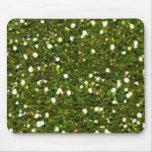 El verde brilla Mousepad Tapetes De Raton