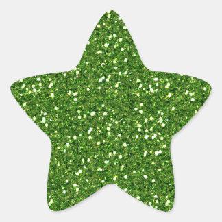 El verde brilla pegatina