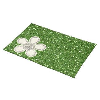 El verde brilla Placemat Mantel