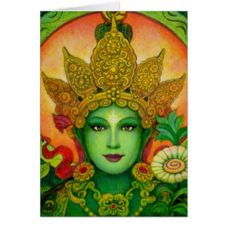 El verde budista tibetano Tara de la diosa hace fr Tarjeta De Felicitación