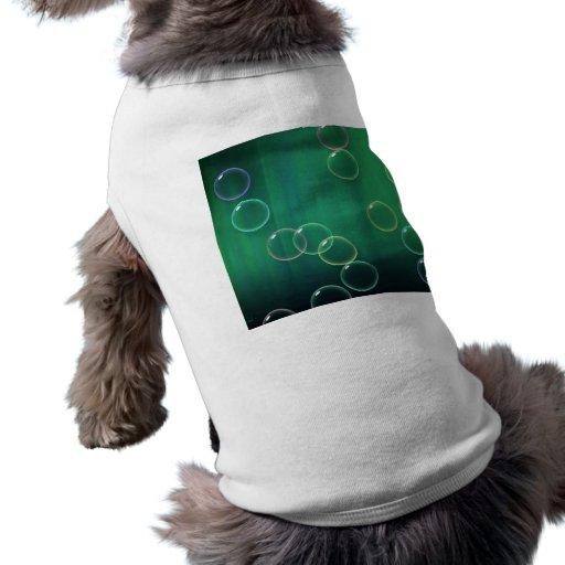 El verde burbujea aurora camisa de mascota