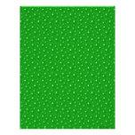 El verde burbujea papel del libro de recuerdos membrete