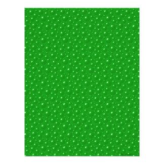 El verde burbujea papel del libro de recuerdos plantillas de membrete