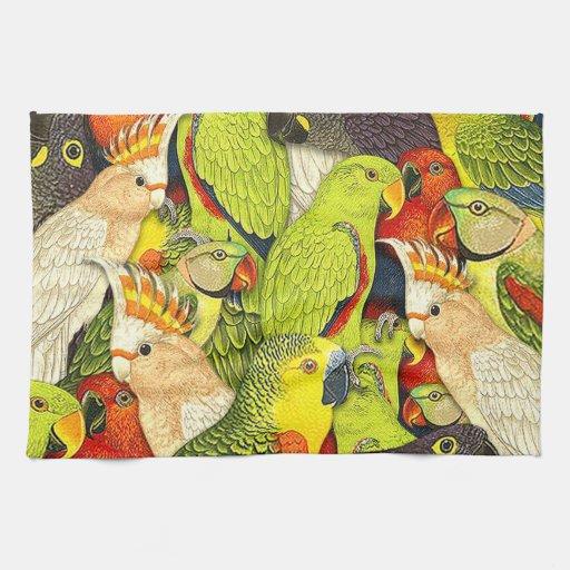 El verde caprichoso de la naturaleza repite mecáni toalla