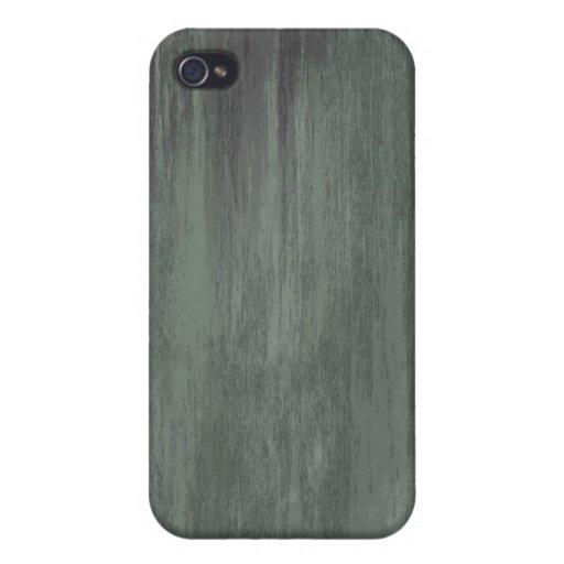 El verde clavó la textura de acero iPhone 4 cobertura