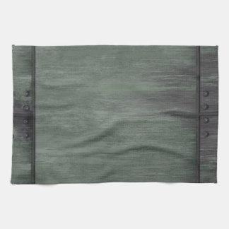 El verde clavó la textura de acero toallas de cocina