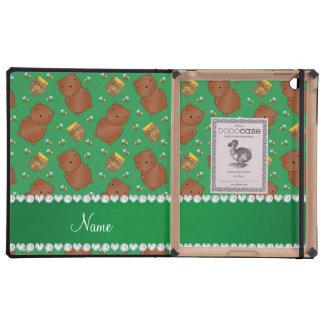 El verde conocido lleva el modelo de las abejas de iPad cárcasa