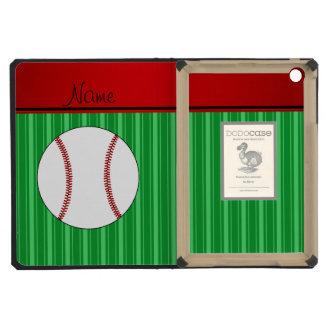El verde conocido personalizado raya béisbol