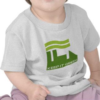 El verde corporativo recicla camiseta