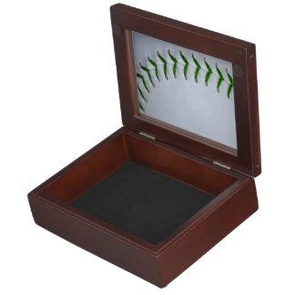 El verde cose béisbol/softball caja de recuerdos
