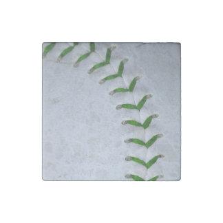 El verde cose béisbol/softball imán de piedra