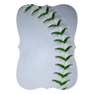 """El verde cose béisbol/softball invitación 5"""" x 7"""""""