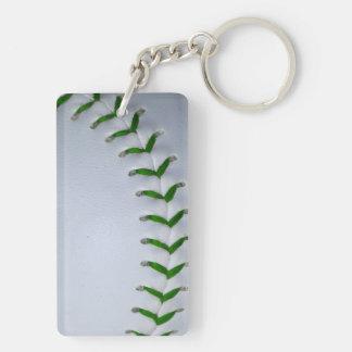 El verde cose béisbol softball llavero