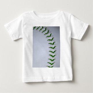 El verde cose béisbol/softball playera
