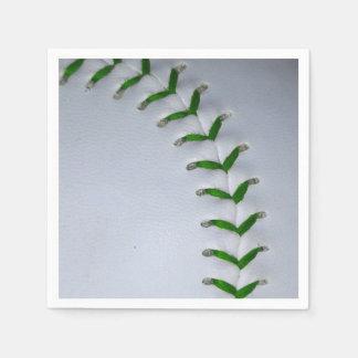 El verde cose béisbol/softball servilleta desechable