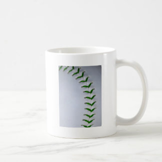 El verde cose béisbol/softball tazas